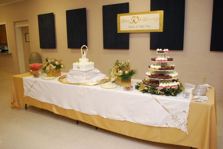 50th Wedding Anniversary Gift Ideas Gold: The 50th Anniversary Refreshment Table
