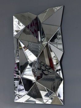 KAGADATO selection. The best in the world. Industrial mirror design. **************************************3d Multi Faceted Wall Mirror - Large size