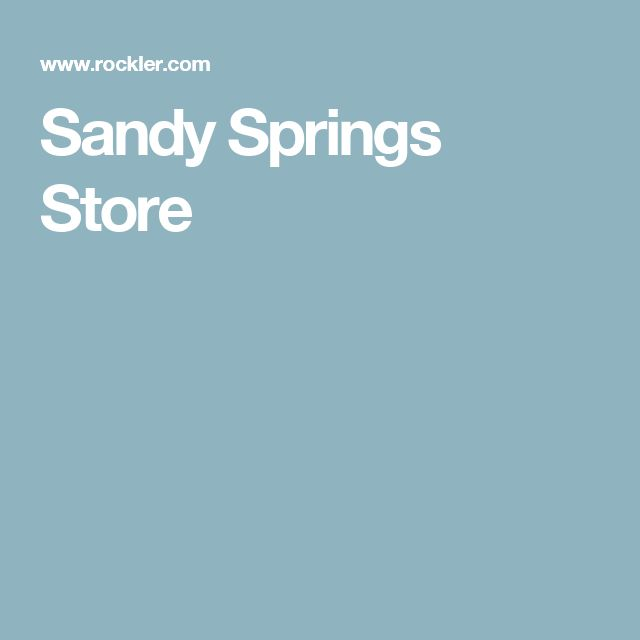Sandy Springs Store