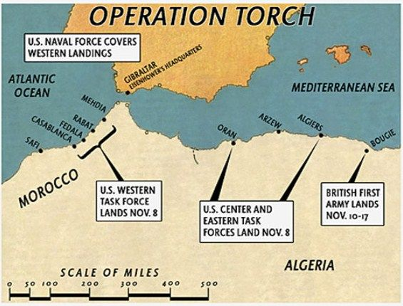 On November 8, 1942, Operation Torch was put in motion. It was the Allied Invasion of Axis occupied North Africa.