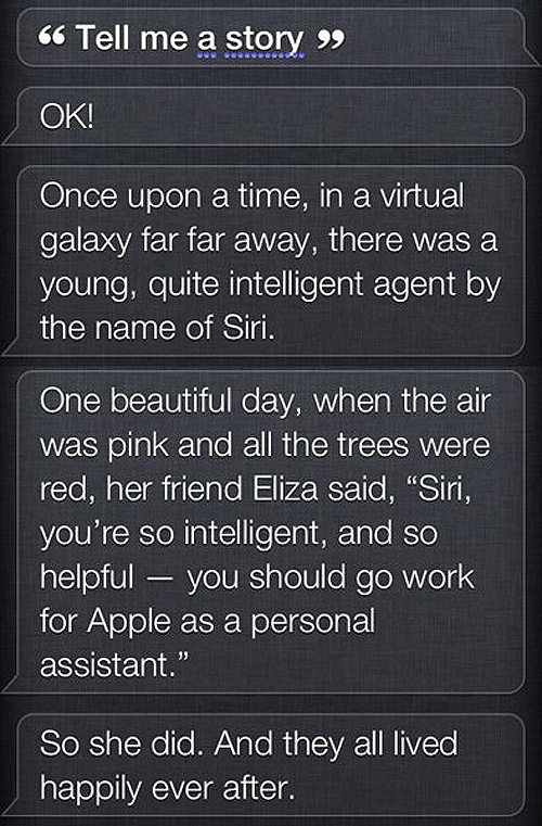 happily ever after funny   Siri-isms: Siri Quotes: The funny Siri sayings. See What Siri Says!