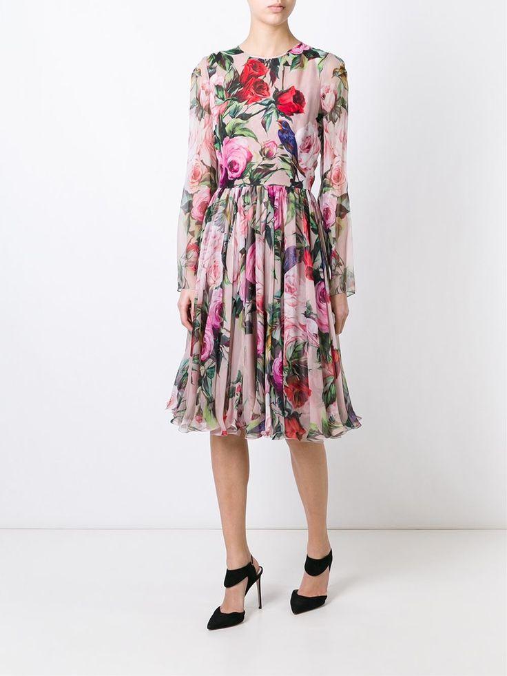 Dolce & Gabbana Vestido De Seda Floral - Donne Concept Store - Farfetch.com