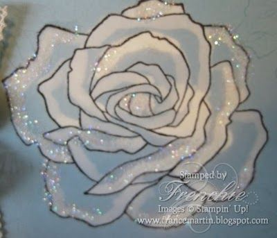 Stampin'Up! Fifth Avenue Floral color with Bleach Video tutorial.