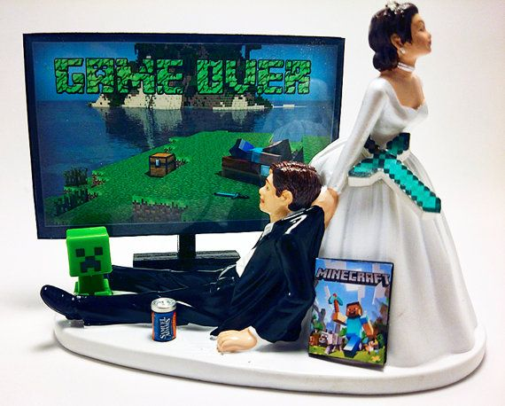 Wedding Cake Topper  This wedding cake topper is perfect for the Gamer fanatic in your life!  All wedding cake toppers can be customized for
