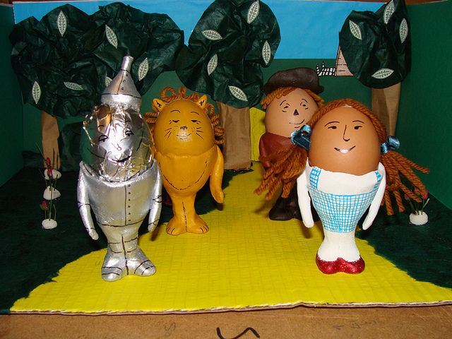 wizard of oz easter egg for childrens egg competition