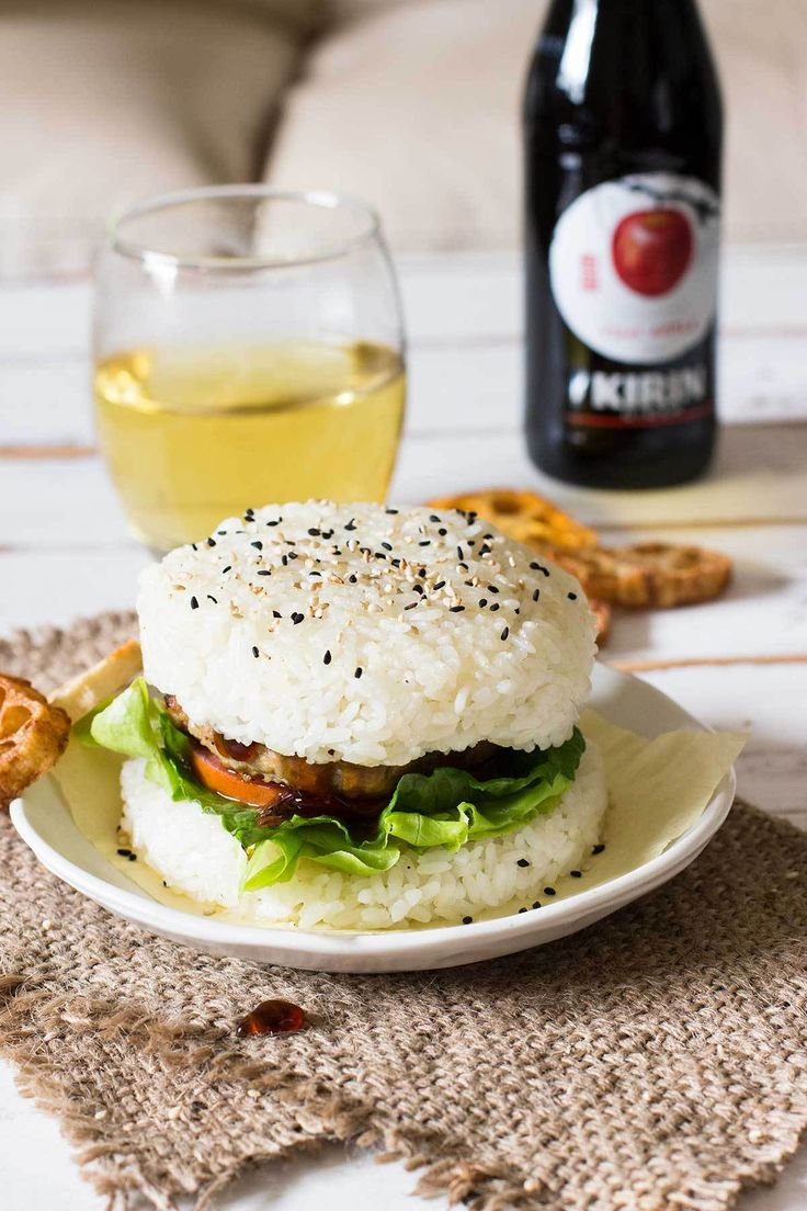 Teriyaki Rice Burger | Recipe | Burgers and Rice