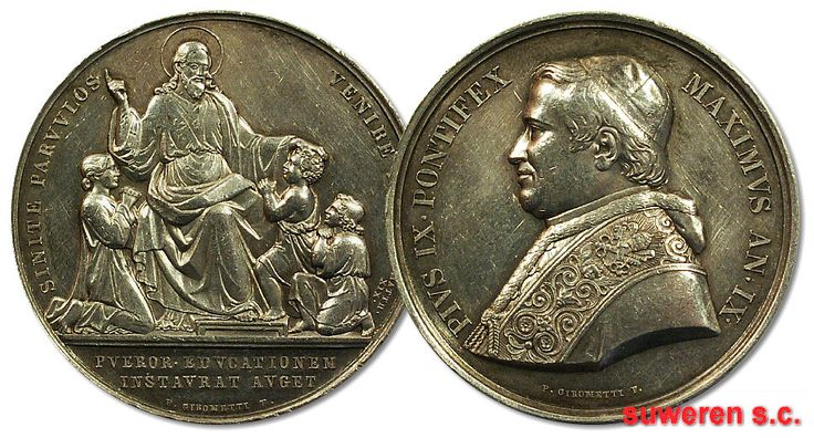 23.as.PAPIESTWO, MEDAL - SENITE PARVVLOS  ... 1854