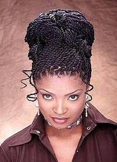 Enjoyable Kinky Twists Twist Updo And Twists On Pinterest Short Hairstyles Gunalazisus