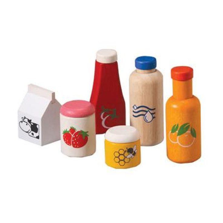 Ekologisk lekmat Food & Beverage Set - PlanToys - Ekologiskt & Tryggt - GoodforKids