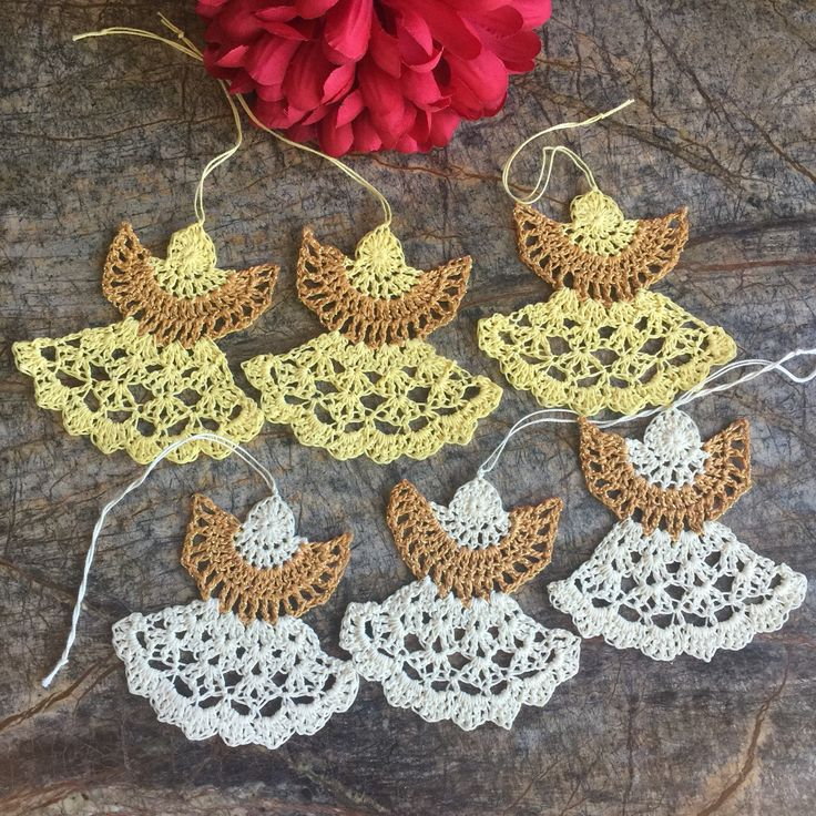 A personal favorite from my Etsy shop https://www.etsy.com/listing/556525669/crochet-angel-set-3-ornaments-tree