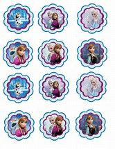 Image result for free frozen cupcake toppers