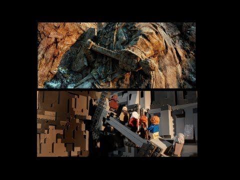 LEGO The Hobbit Trailer (Side by Side Version)  #lego #legoHobbit #legotrailer http://www.Adopt-A-Brick.com/