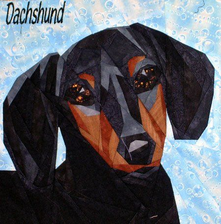 Silver Linings Canine Corner Dachshund Smooth Quilting