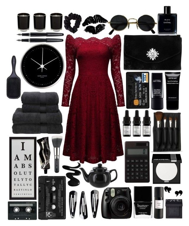 """If each tear was a key I could have found the right one by now"" by nico-de-angelo ❤ liked on Polyvore featuring Gunne Sax By Jessica McClintock, Chanel, MAC Cosmetics, Givenchy, Odacité, The Body Shop, Muji, Georg Jensen, Christy and MAKE UP FOR EVER"