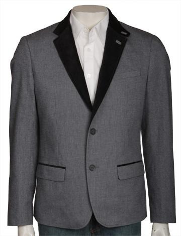 Two Button Velvet Collar Blazer - True Black jackets / outerwear Original Penguin Clothing. Very Von Trapp