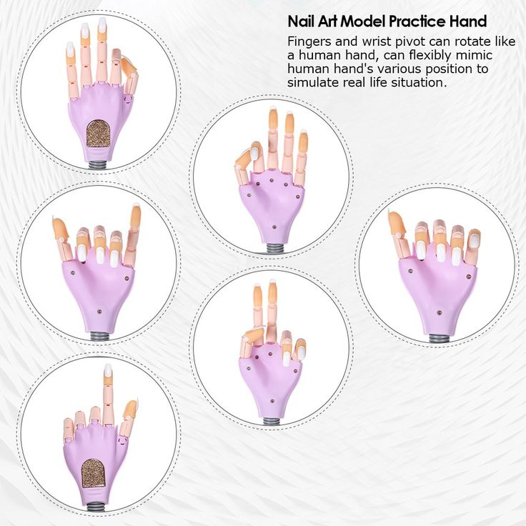 Only US$32.56, purple Nail Trainer Tool Adjustable Nail Art Model Hand Practice DIY - Tomtop.com