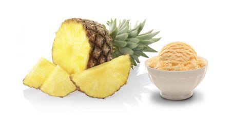 Recept på hur du gör hemmagjord Kokos och ananasglass.