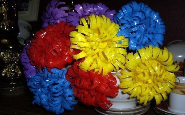 Хризантема из пластикового стаканчика. Мастер-класс