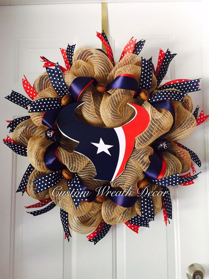 Houston Texans Wreath Texans Wreath Texas Football Wreath