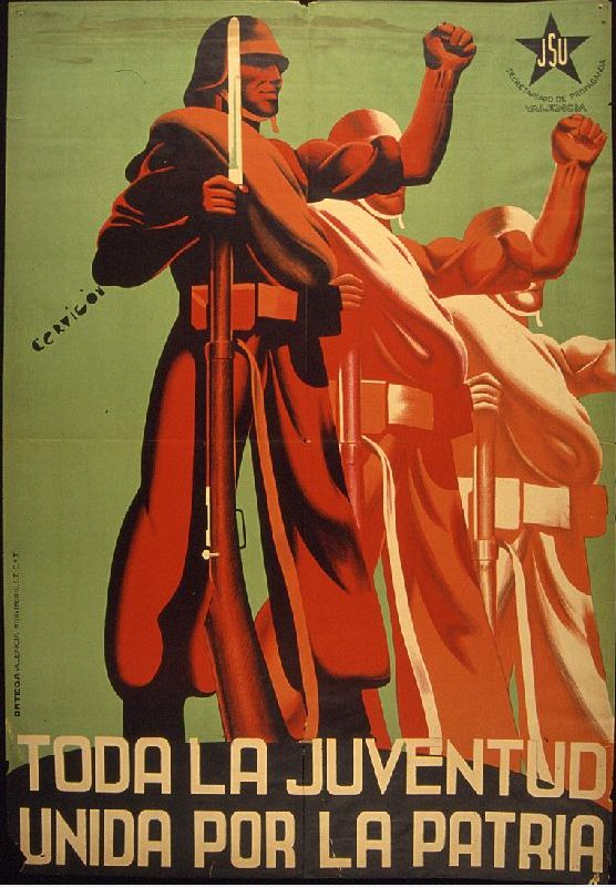 By Cervigon, date unknown, All Youth United for the Homeland. (Spanish Civil War)
