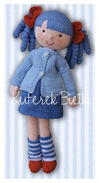Anita - lalka na szydełku/ Gehäkelte Puppe w Kuferek Bietki na DaWanda.com