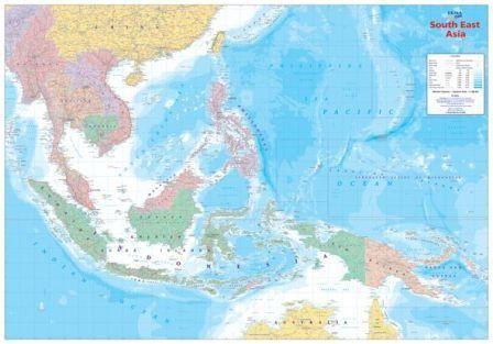 *-* Mapy sveta - Juhovýchodná Ázia