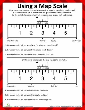 For our compass, directions, and maps unit I think this would be a great worksheet introducing what map scales are and how to use them. This incorporates math into the unit while still using map concepts. PP