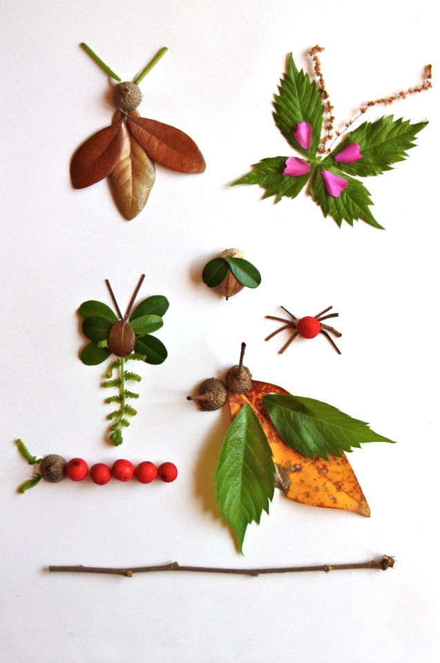 art projects kids nature | Nature Art (and collect it while you hike)