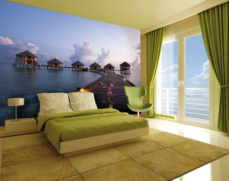 Ideas for home decor wall maldives dream wall mural