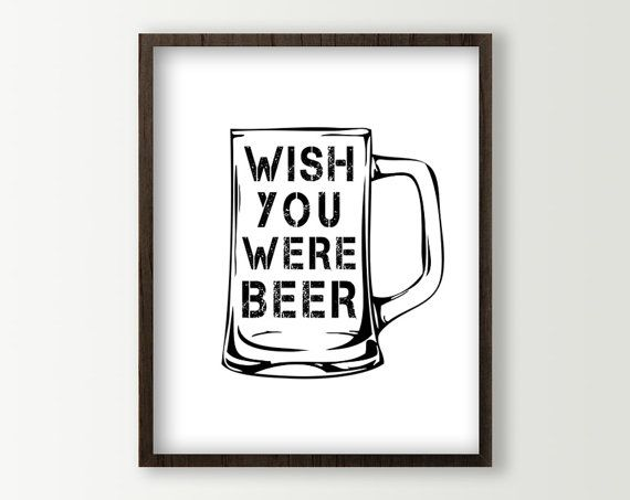 Beer Sign / Beer Poster for Dining or Kitchen in any color