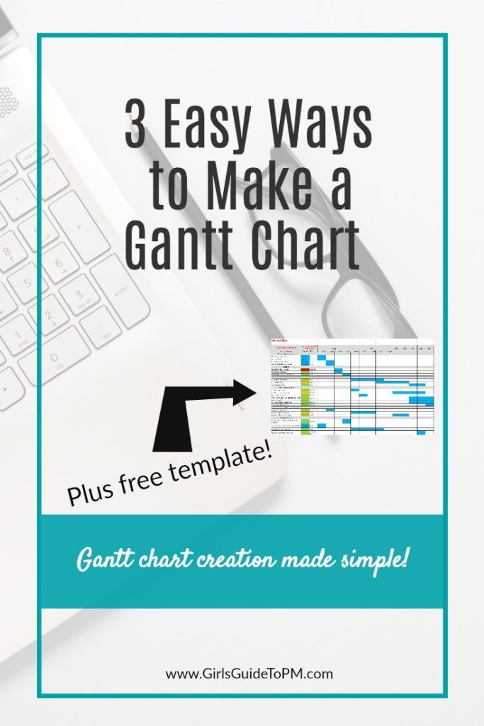3 Easy Ways To Make A Gantt Chart Free Excel Template Girls