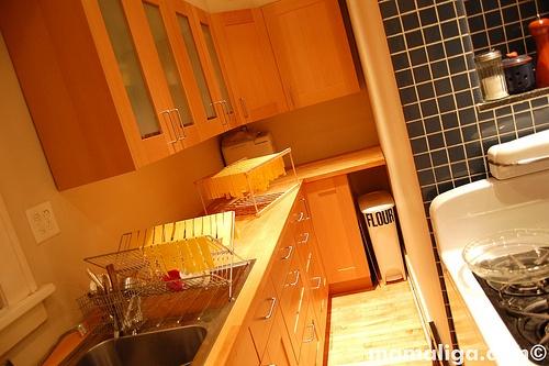 IKEA kitchen  adel birch and numerar beech