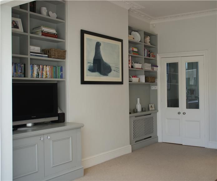 An inspirational image from Farrow and Ball Lamp room grey