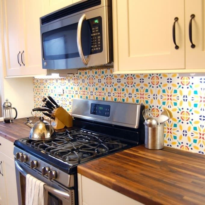 Customize Your Kitchen Backsplash With Bigger Sheets Of Removable