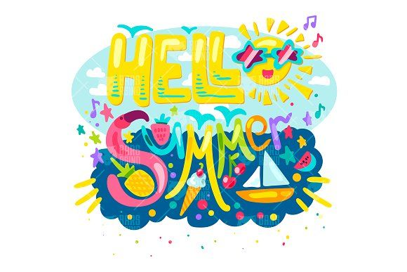Hello Tropical Summer by barsrsind on @creativemarket