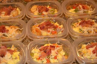 tater tots (or maybe try hashbrowns, scrambled eggs with peppers/onions, mix in scrambled sausage and shredded cheese and top with bacon crumbles) 7kidsathome: Breakfast Bowls