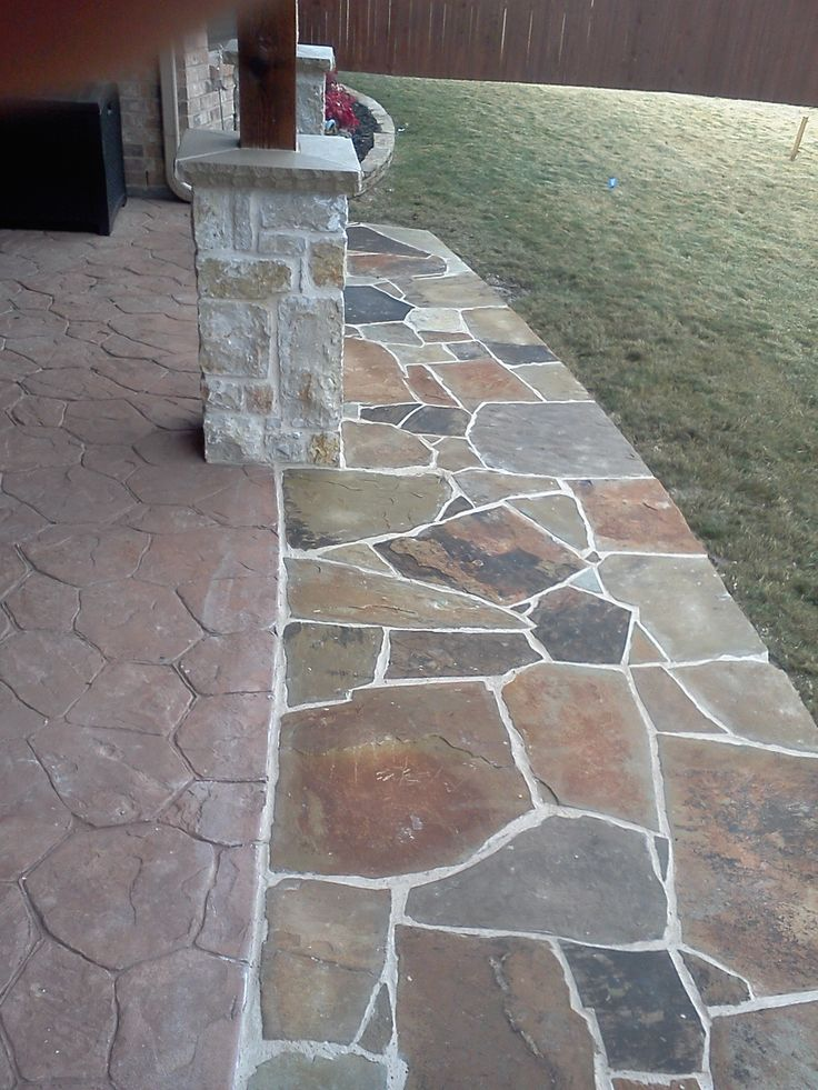 Trophy club texas flagstone patio extension by www Flagstone patios colleyville tx