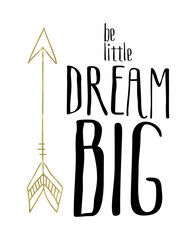 Girls Nursery Printable Wall Art | These Bare Walls | Be Little Dream BIG | Tribal Print | Nursery Print