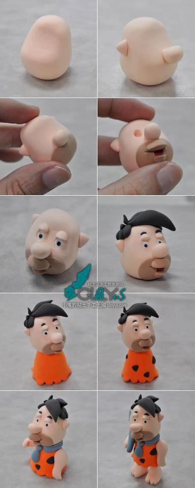 Fred Flinstone photo tutorial  via http://www.facebook.com/pages/Cake-Decorating-Tutorials/200747390056693