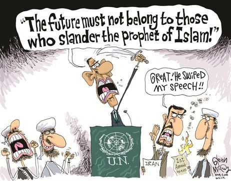 "Barak ""The Blind Sheik"" Obama and his anti First Amendment speech to the UN."