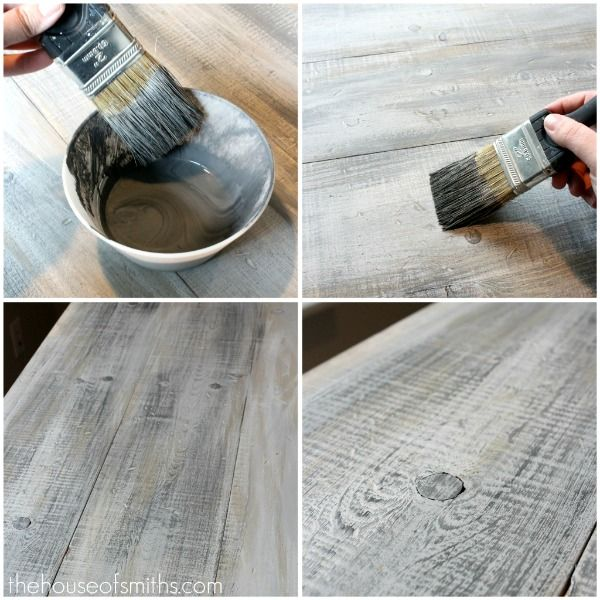 how to make new lumber look like weathered barnwood for. Black Bedroom Furniture Sets. Home Design Ideas