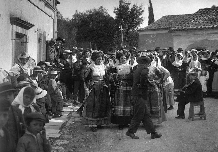 Γιορτή στο Γαστούρι Κέρκυρας, 1903