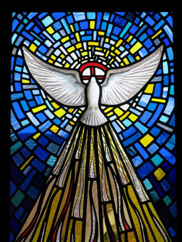 Holy trinity stained glass | Sophie D'Souza Stained Glass: Trinity Windows, the Holy Spirit