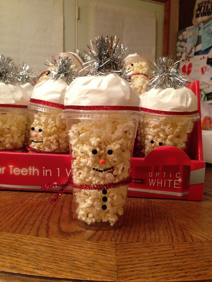 Snowman Popcorn Here S What You Need Clear Cups With