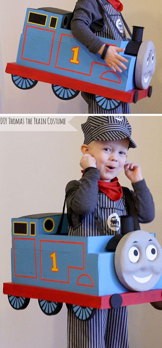 DIY Thomas the Train Halloween Costume | Click for 30 DIY Halloween Costumes for Kids to Make | DIY Halloween Costumes for Toddlers