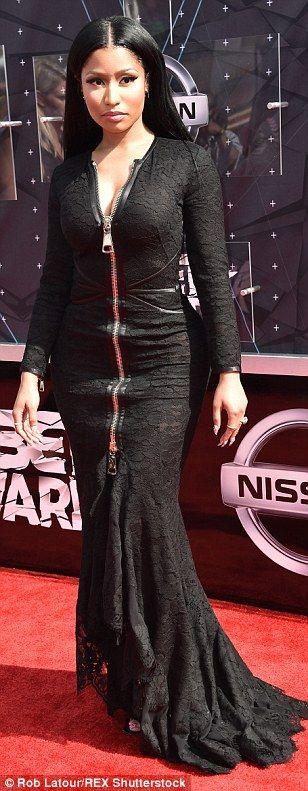 Nicki Minaj, Christina Milian and Laverne Cox at BET Awards