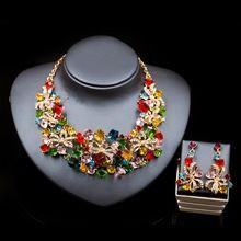 LAN ДВОРЕЦ бижутерия индийский комплект ювелирных изделий нигерии свадебный африканские бусы ожерелье и серьги для партии бесплатная доставка(China (Mainland))