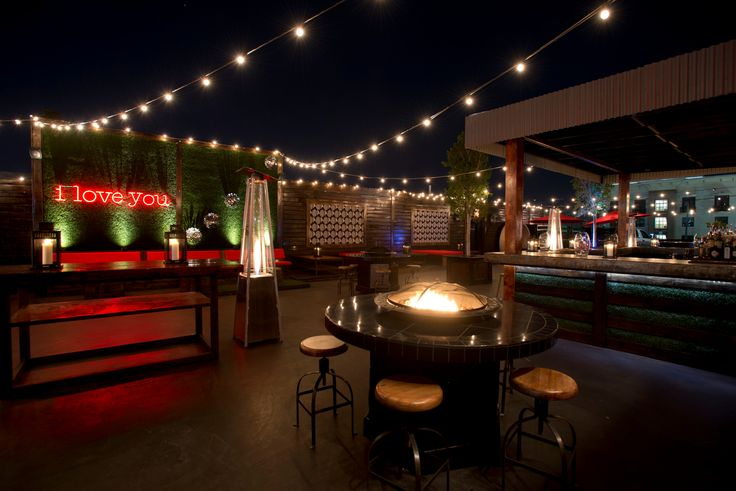 Rooftop Bar In Houston Proof I Love You Neon Letters