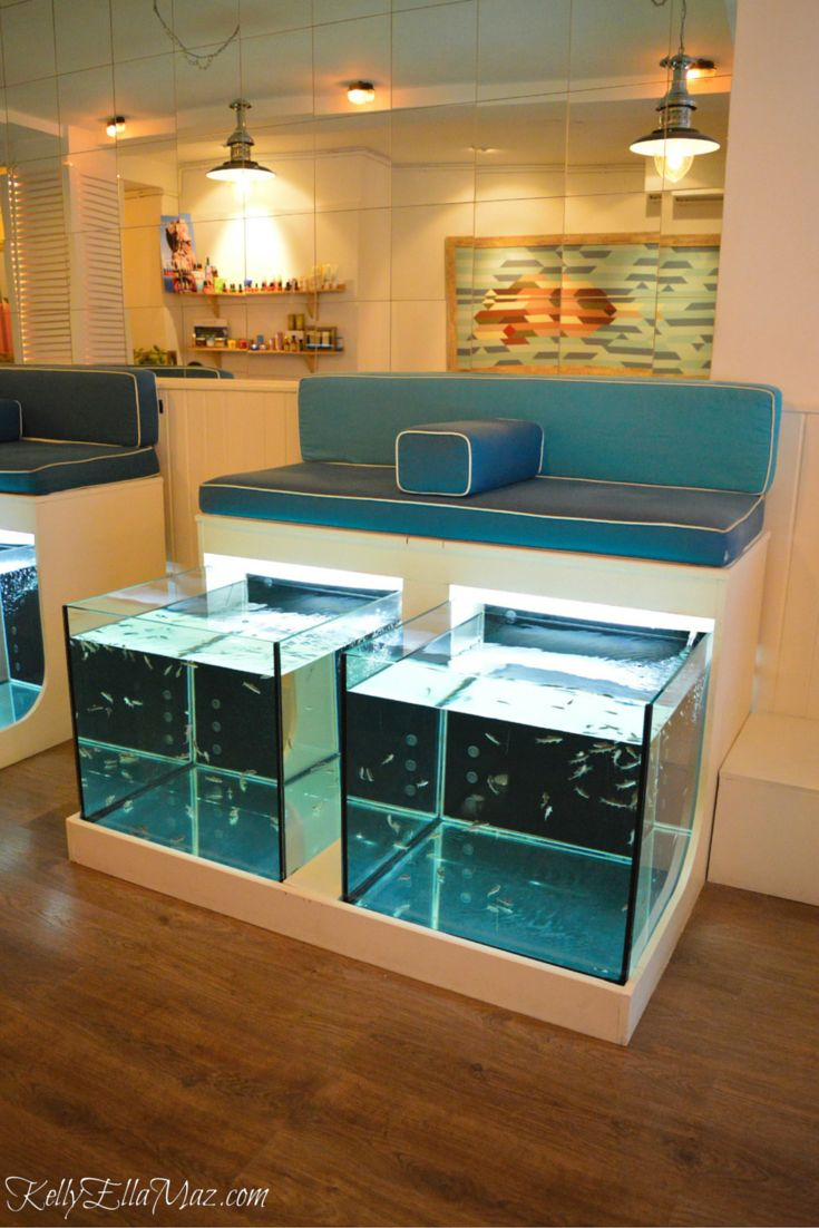 Fish pedicure at AquaBliss Fish Spa in Barcelona, Spain. Read about my first fish pedicure - and find out why I'm saying it was my best pedicure EVER!