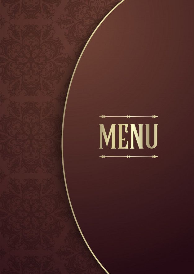 Download Elegant Menu Cover Design For Free Capas De Menu